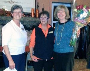 Dottie, Linda and Gloria at installation